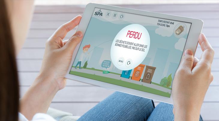 Création site internet Application mobile pour Spadois