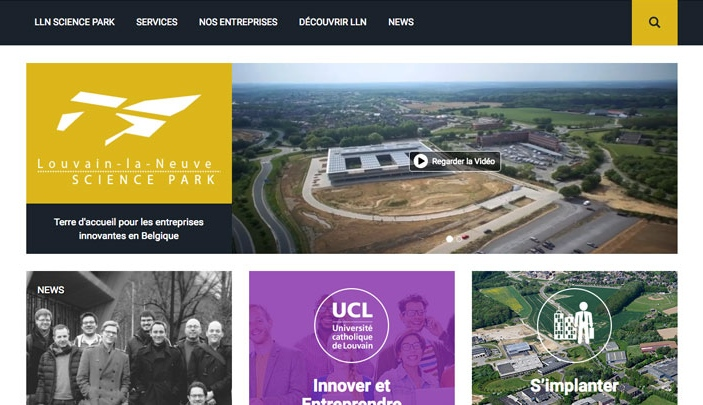 Création site internet Nouveau site LLN Science Park