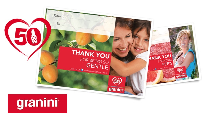 Cr�ation site internet 50 years of Granini