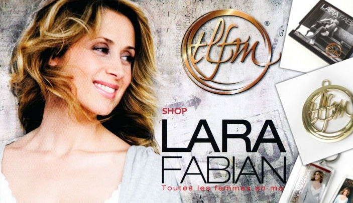 Cr�ation site internet Lara Fabian Shop